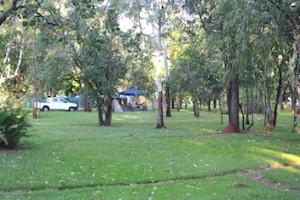Bush camping powered sites